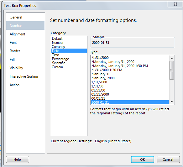 Export SSRS Date's to Excel As Dates Not General or Custom