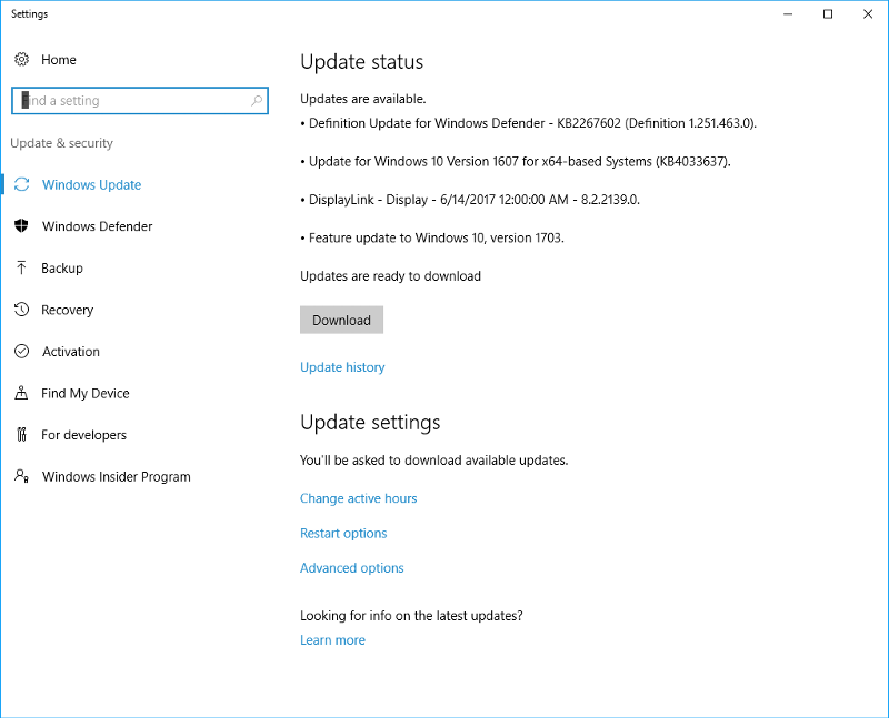 windows 10 1607 september update