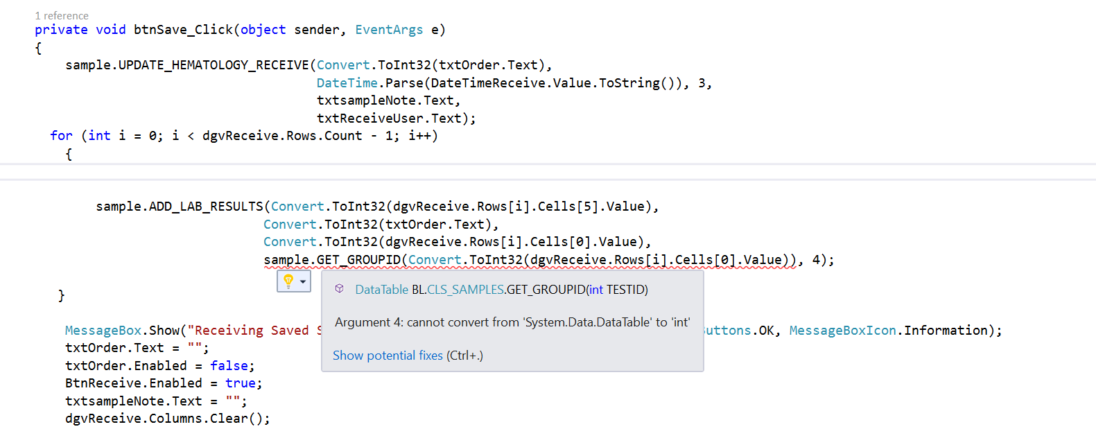why do get this error cannot implicitly convert type 'system data