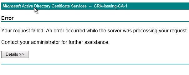 requesting certificate