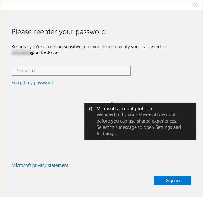 Delete or disable message at login of 'please reenter your password