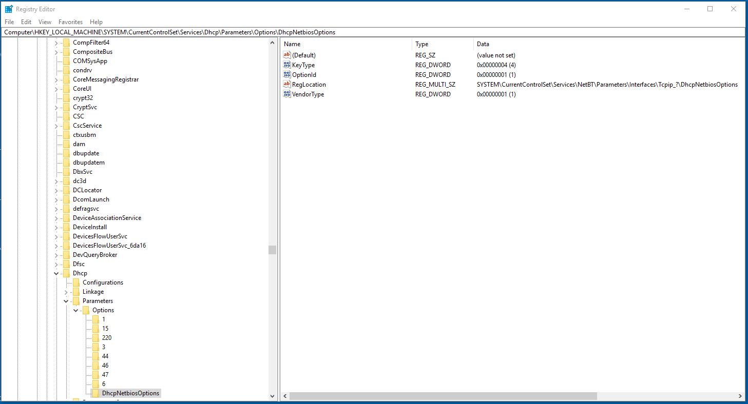 enable netbios over tcp ip windows 10