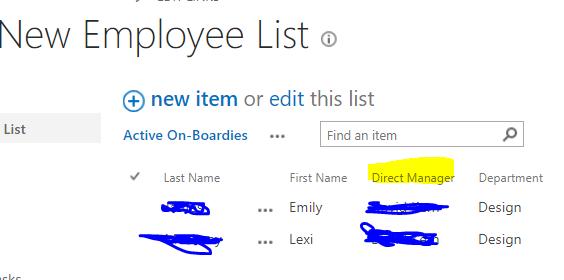 New Employee List - SP