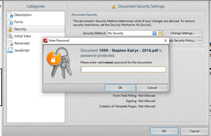 password problem