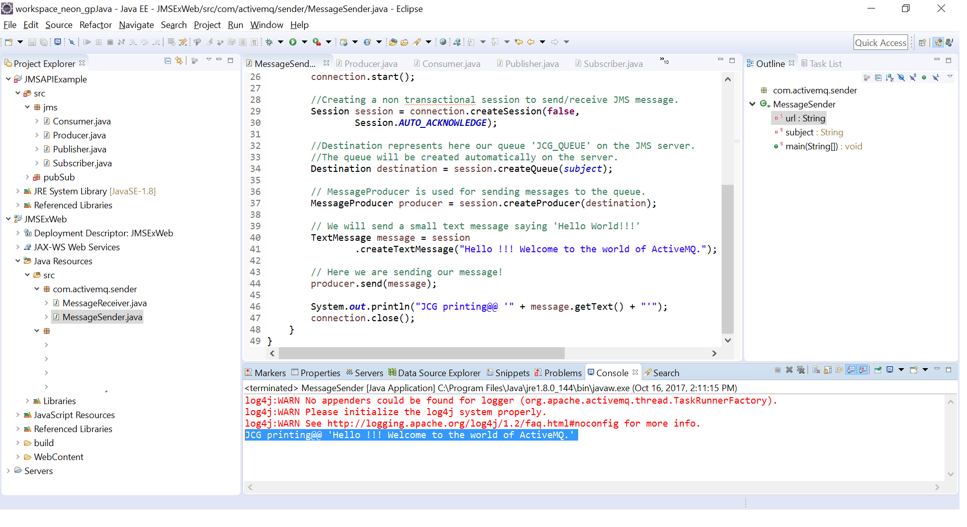 JMS API related examples