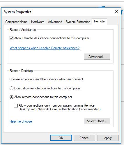 Remote-Desktop-properties
