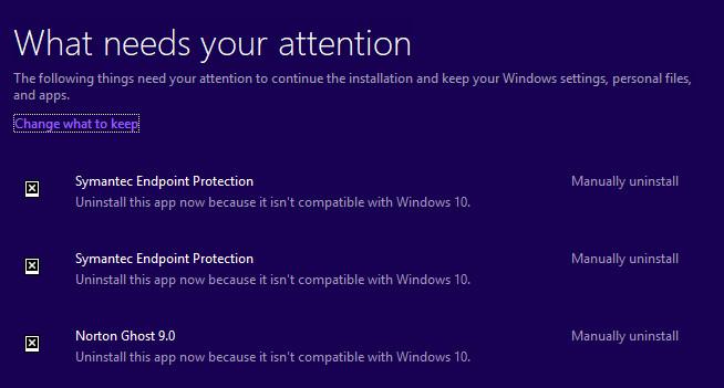 Windows 10 1709 Upgrade error 0xC1900209