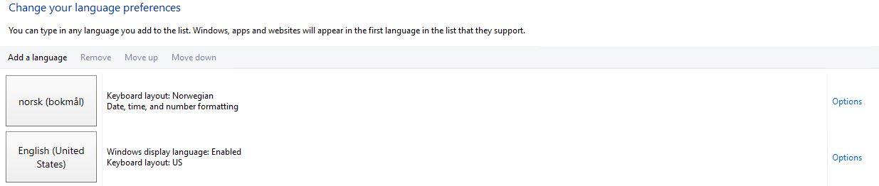 how to change language on a windows xp server