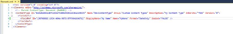 Content Configuration XML
