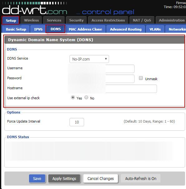 DD-WRT Router DDNS