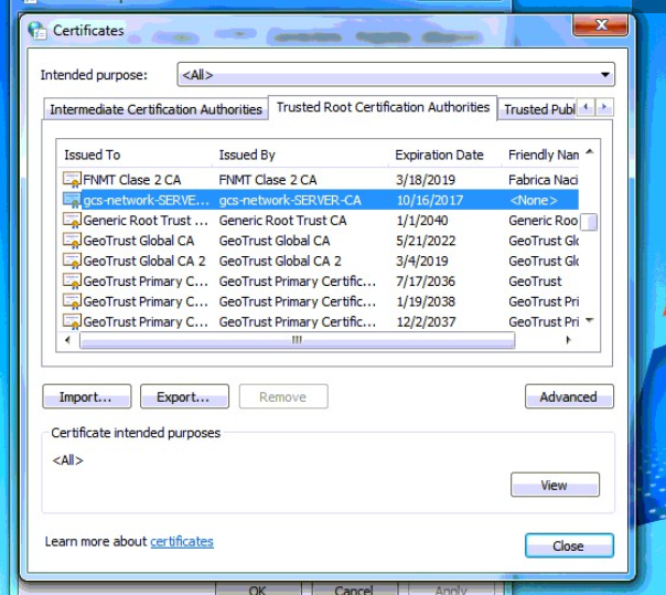 OUTLOOK - Security Certificate Issue Solutions