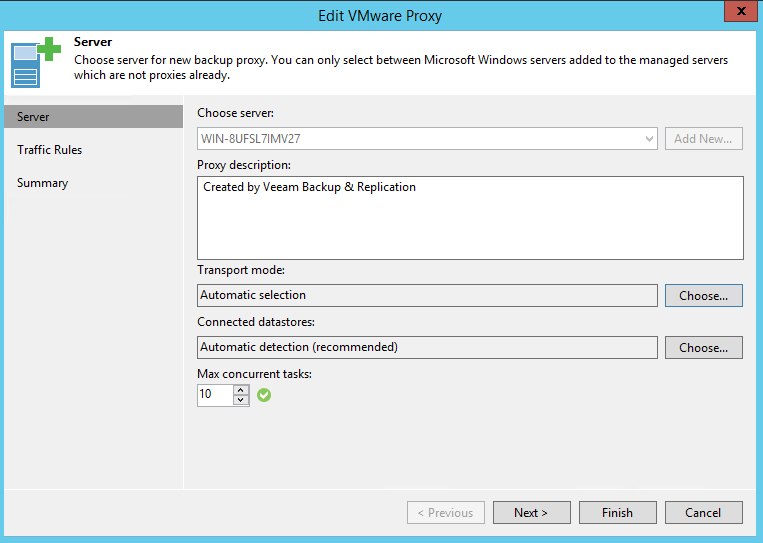 Slow processing rate in Veeam