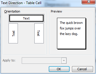 text direction