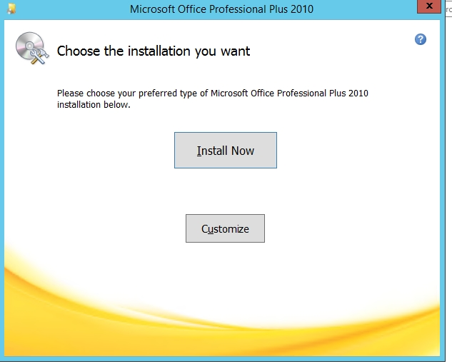 Running Microsoft Office Professional 2010 Setup - but Title is Microsoft Office Professional Plus 2010