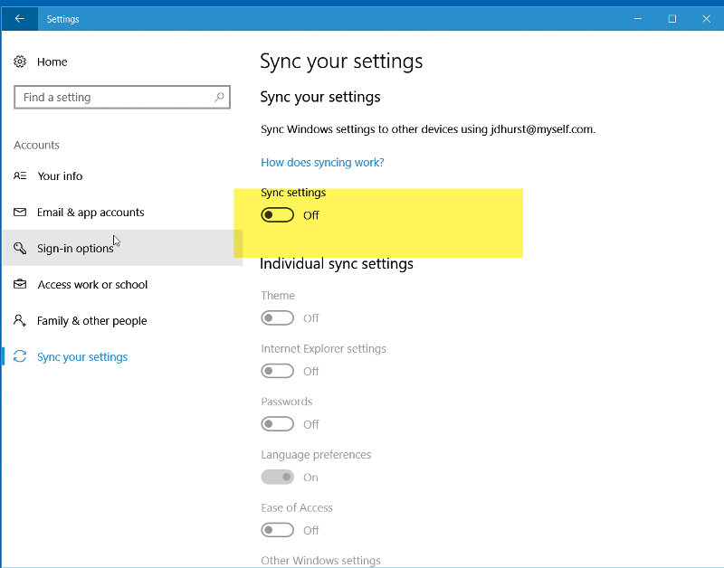 Windows-10-Sync-Device-Setting