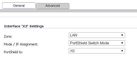SonicWALL X3 Interface Settings