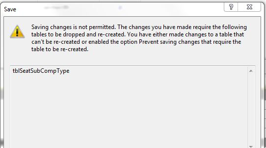 SQL Serve 2014 Error message