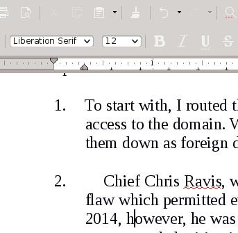 LibreOffice tab stops