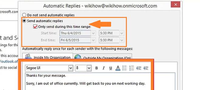 Automatic Send Replies