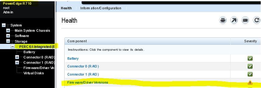 Dell r710 Controller PERC 6/i