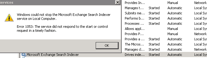 Exchange Search Indexer