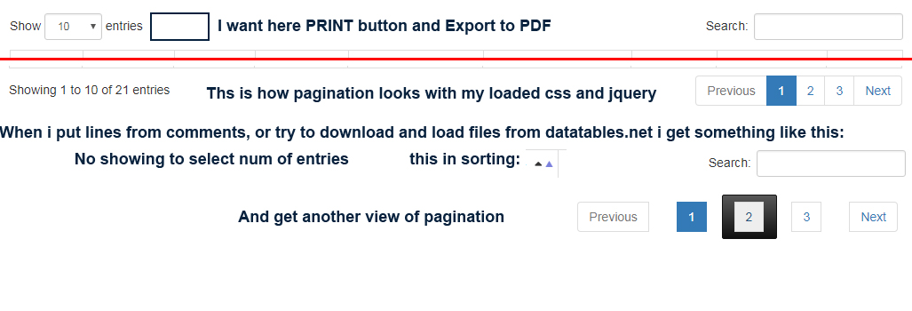 SOLUTION] Print button in dataTables