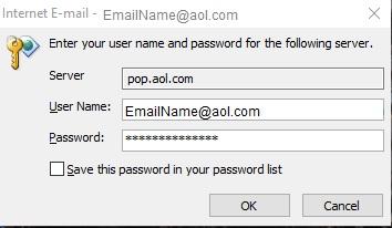 email aol error