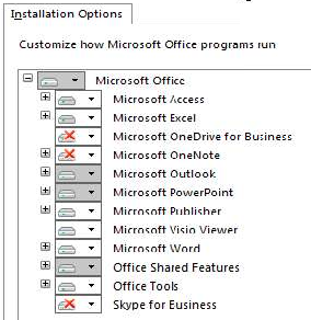 Office 2016 Config