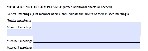 Fillable Attendance Form