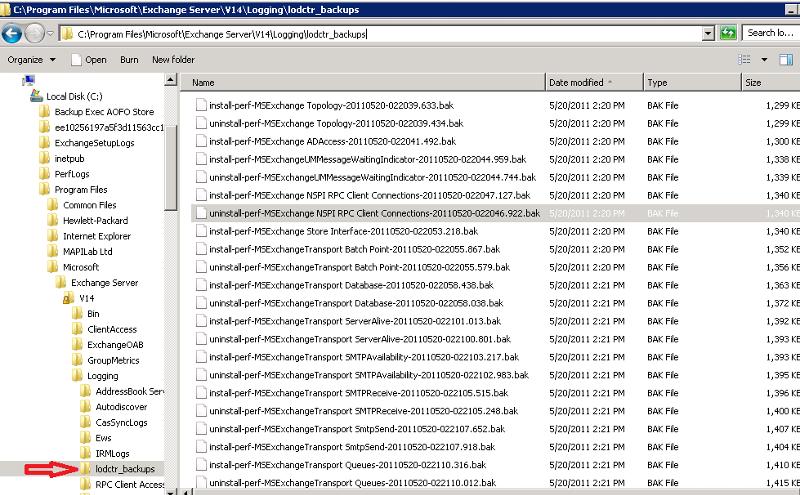 Exchange Log File