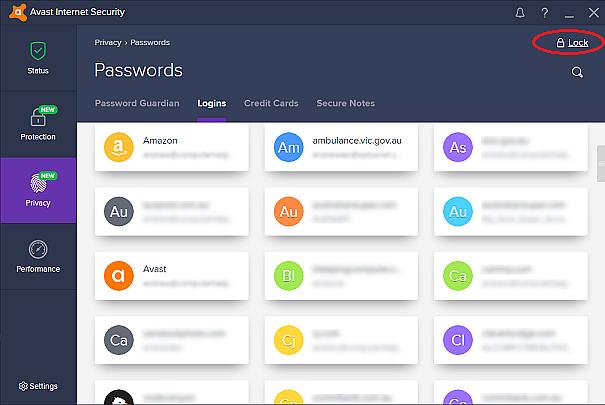 what is my avast password