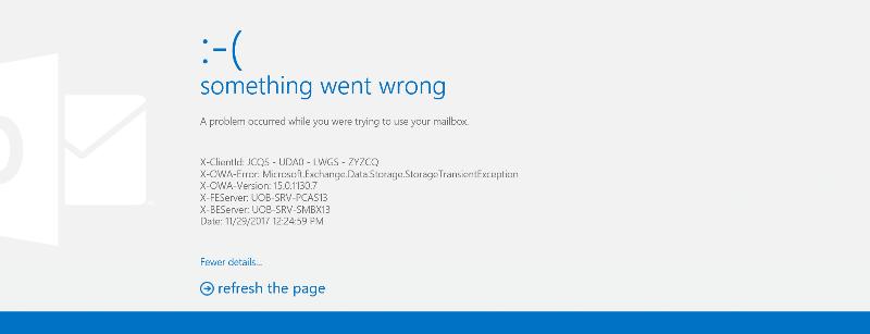 OWA login error