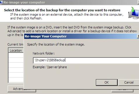 SBS Windows Image Path
