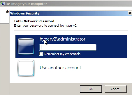 Password Prompt to access SBSBackup Folder on USB Drive