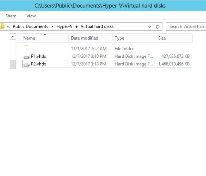 Virtual Hard Disks Folder
