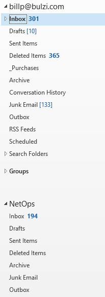 Outlook Folders