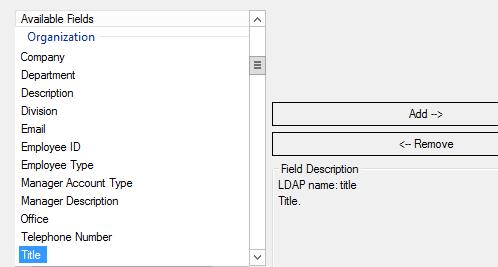 Job title field