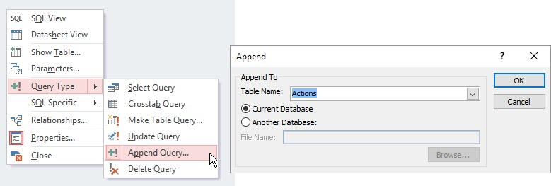 make Append Query