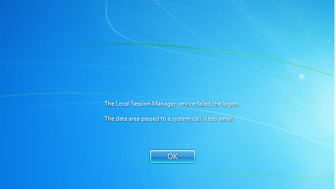 Login-Error-Message