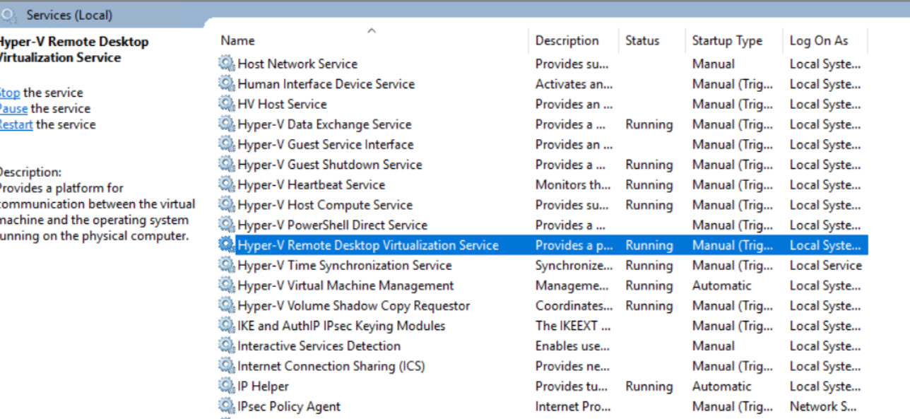Failed to start VIrtual Machine  I installed Hyper-V role on Win