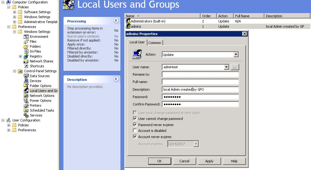 windows 10 change administrator password gpo