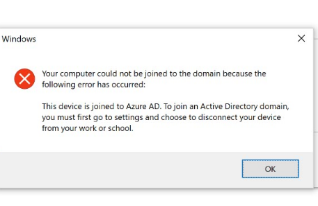 Unable To Add Microsoft Surface Book 2 With Win 10 Pro To Ad Domain