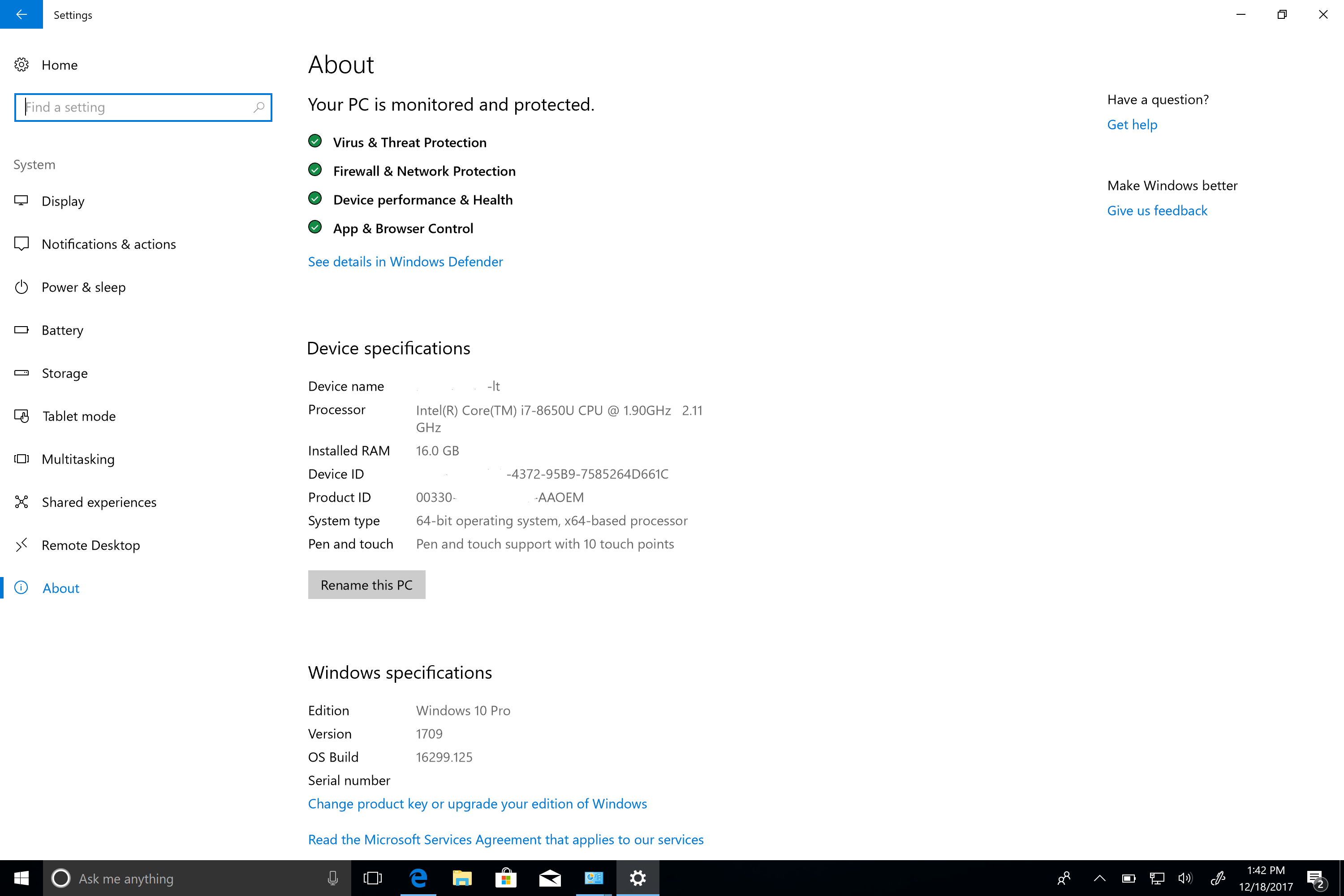 Unable to add Microsoft Surface Book 2 with Win 10 Pro to AD