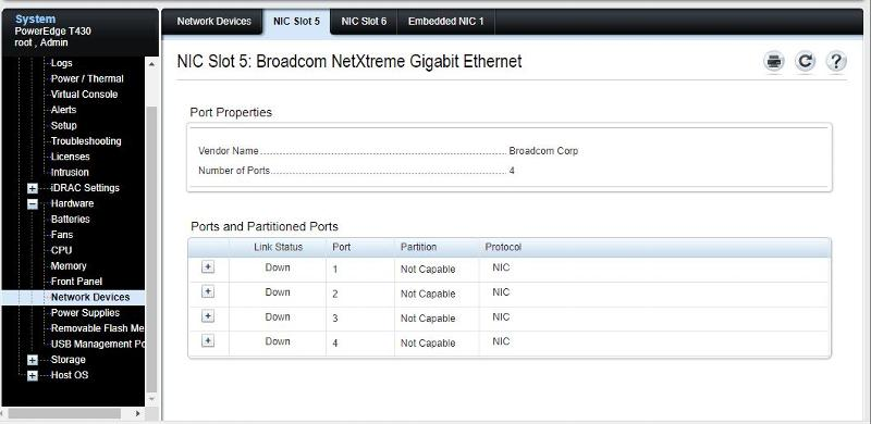 IDRAC - show 4 NIC ports
