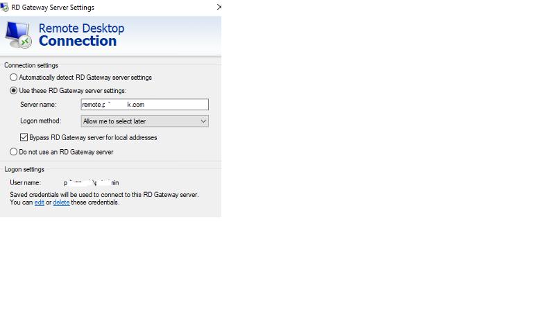 RDP using Remote Gateway