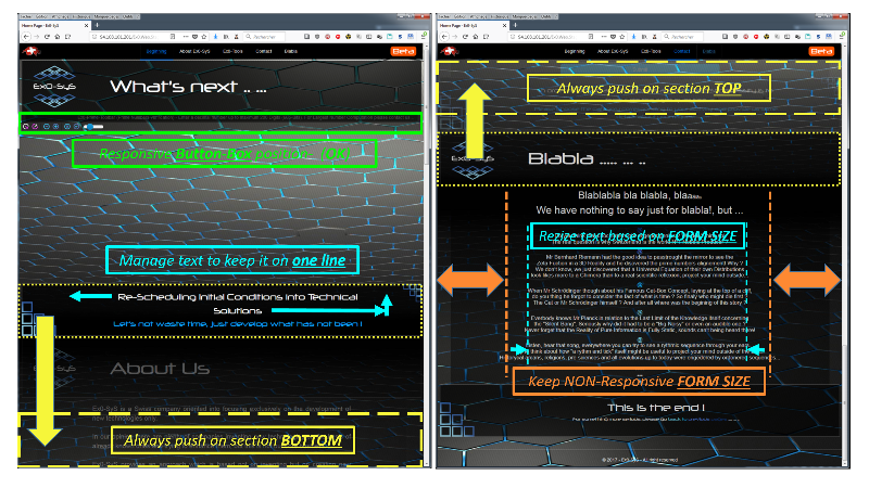 Ex0-SyS Website - How To do it Responsive   FIXED Bottom and Top