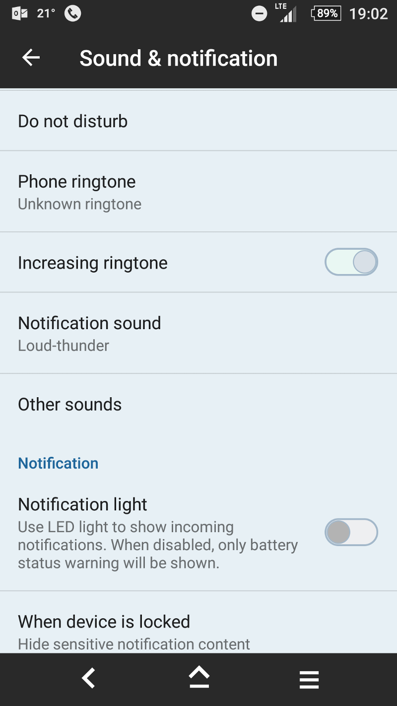 Settings -> Sound & notification.