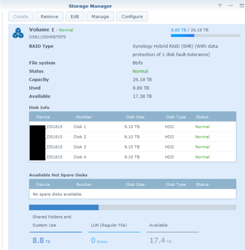 Synology NAS - move files from Shared Folder to iSCSI LUN