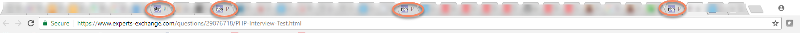 My browser tabs