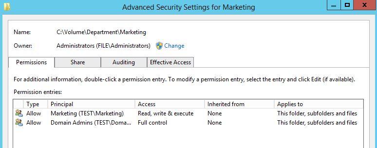 Marketing NTFS Permissions